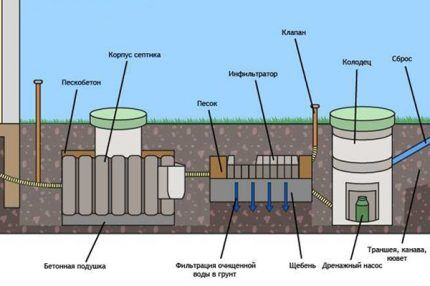 How to organize a septic tank for giving a tank