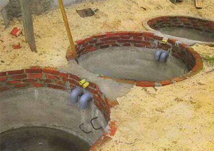 Принцип действия выгребной ямы с переливом
