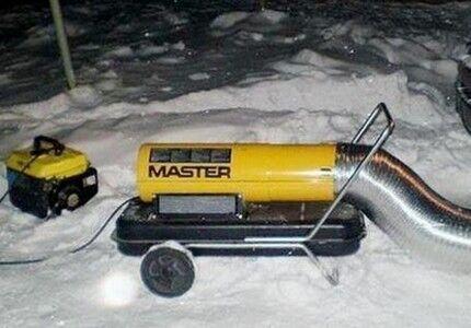 Тепловые пушки против ледяных пробок