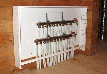 Металлический шкаф для обустройства узла