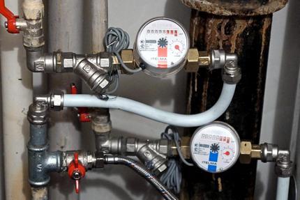 Вариант размещения водомеров