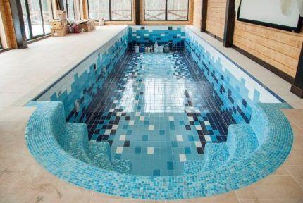 Облицовка бассейна плиткой и мозаикой