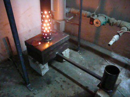 Отопление на масляной отработке