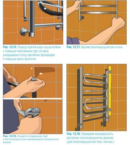 Как установить электрический полотенцесушитель в ванной