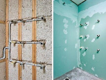 Работы сопутствующие замене полотенцесушителя в ванной