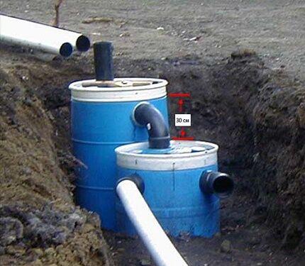 Как построить канализацию с септиком из бочек
