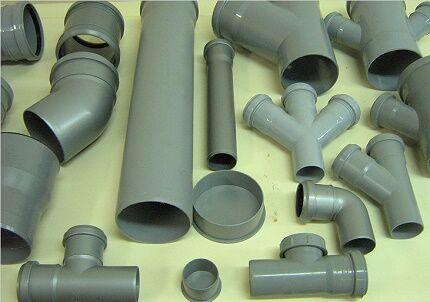 Фасонные детали для устройства канализационного трубопровода