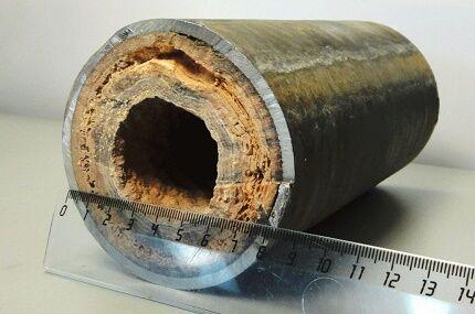 Результат частой смены теплоносителя в системах водяного отопления