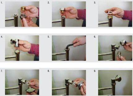 Инструктаж производителя полотенцесушителя для правильного подключения