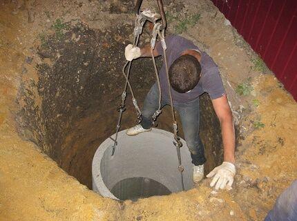 бетонные кольца можно повредить при установке септика