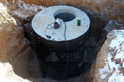 Гидроизоляция старого колодца из бетонных колец - дренажного - септик дорожная мастика для швов