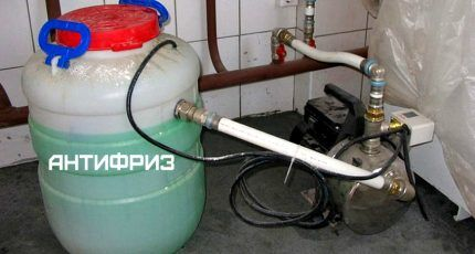 Как правильно заполнить систему отопления антифризом