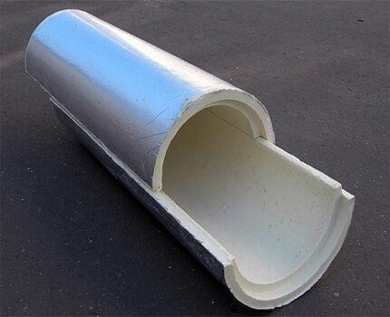 Пенополиуретановая скорлупа для труб