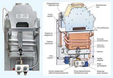 Газовая колонка Mora Vega 13