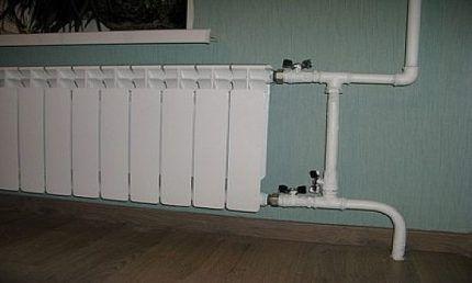 Ручной байпас радиатора