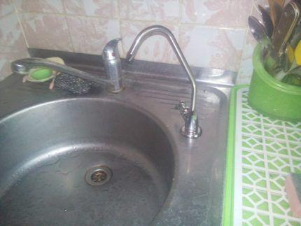 Кран питьевой воды системы обратного осмоса