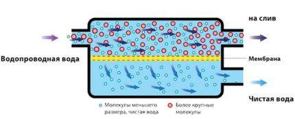 Схема работы мембранного фильтра