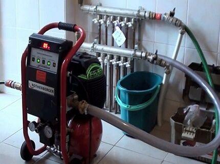 Оборудование для опрессовки системы отопления своими руками