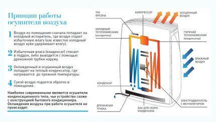 Устройство и принцип работы моноблочного осушителя для бассейна