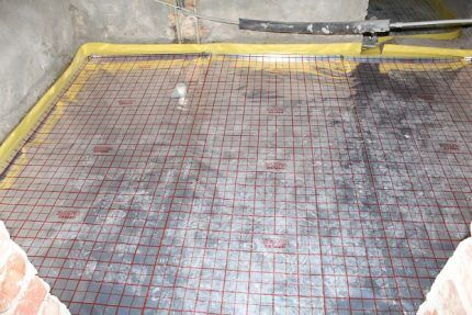 Errors when installing a water-heated floor