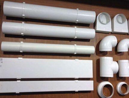 Детали воздуховодов для вытяжки