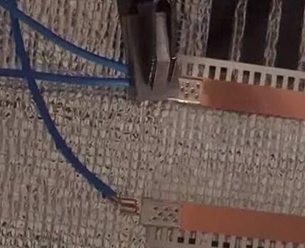 Плотное соединение провода
