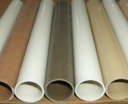 Разноцветные пластиковые трубы для вентиляции