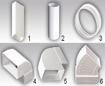 Shaped plastic elements set 1