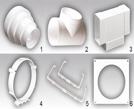 Shaped plastic elements set 3