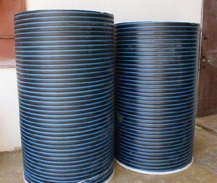 Пластиковые кольца для колодца с резьбой