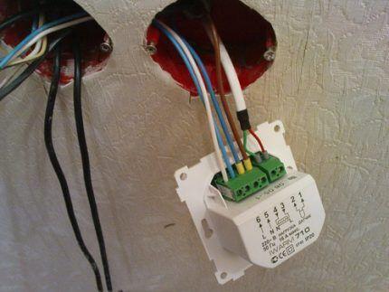 Подключение блока управления и термодатчика