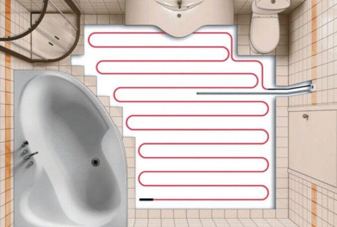 Нагревательные кабели в ванной