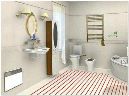 Heated bathroom floor