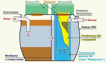 Schematic device septic Purges