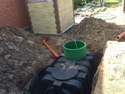 Installation of a septic tank Purges-2000