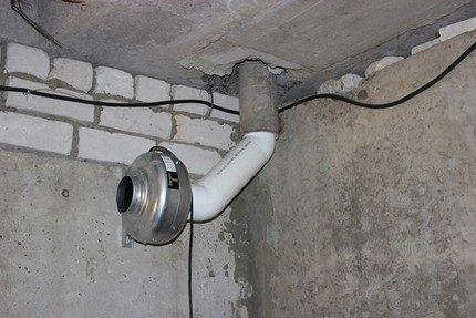 Пример принудительной вентиляции