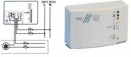 Схема подключения гидростата