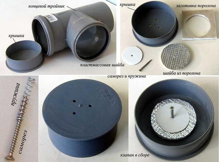 Как сделать воздушный клапан для канализации