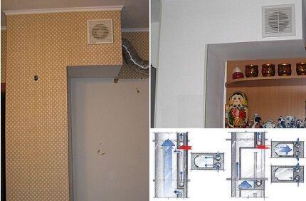 Реконструкция воздуховода
