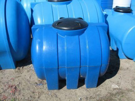 Выгребная яма из пластиковой бочки