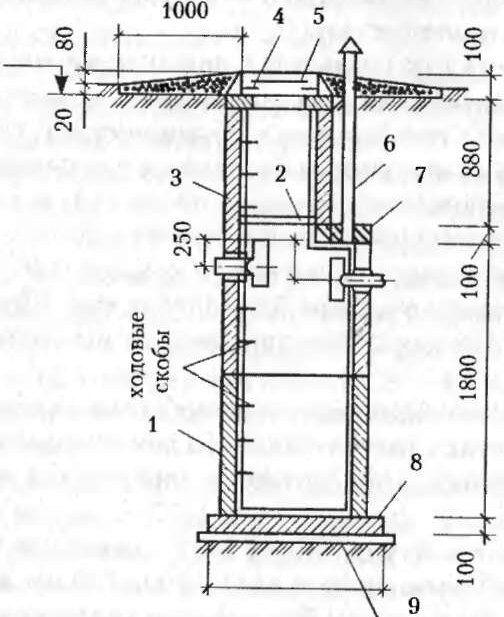 Схема выгреба с размерами
