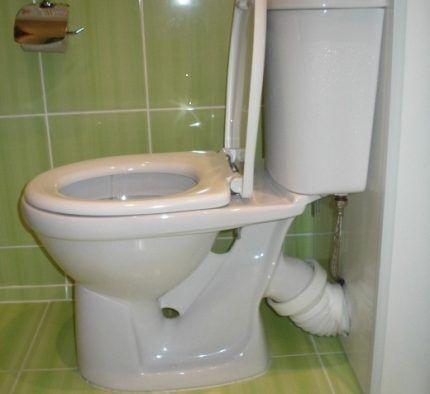 Запах канализации в туалете из-за отсутствия водяной пробки