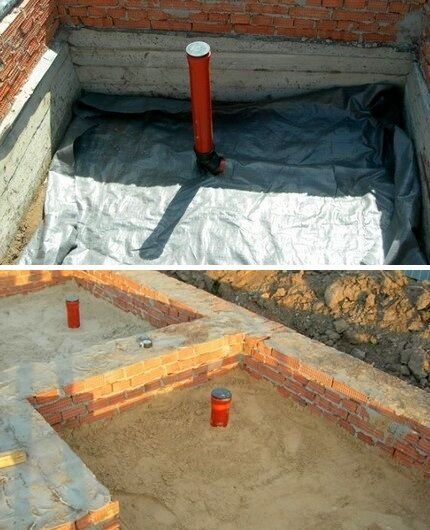 Waterproofing and sand dumping