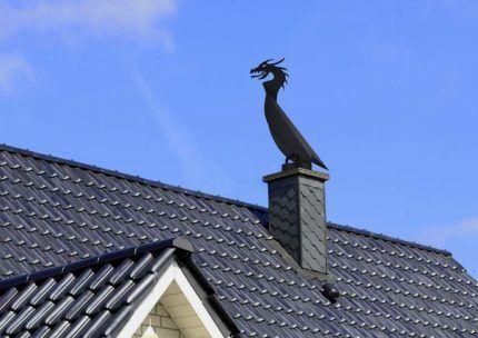 Дефлектор органично вписывается в интерьер крыши