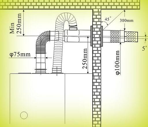 Обозначение дымохода в проекте материал для изоляции дымохода
