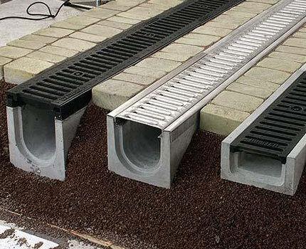 Элементы системы поверхностного дренажа