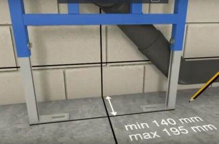 Расположение рамной инсталляции относительно стены