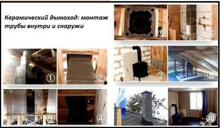 Ceramic Chimney Installation