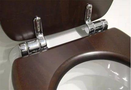 Металлические шарниры сидений унитазов