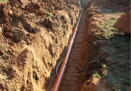 Прямолинейная линия канализации